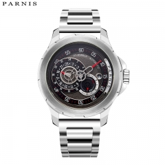 44mm Parnis Miyota Automatic Men Mechanical Watch Sapphire Glass Water Resistant