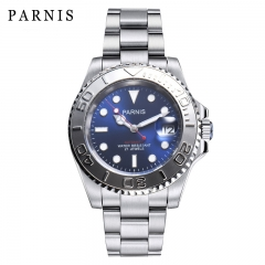41mm Parnis Luminous Marker Miyota Automatic Movement Men's Watch Rotating Bezel