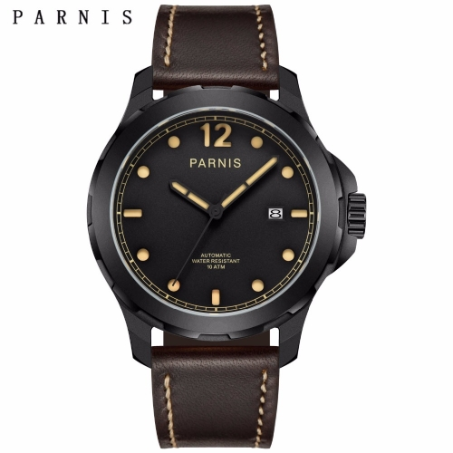 44mm Parnis Sapphire Miyota Automatic Movement 10ATM Water Resistant Men's Watch