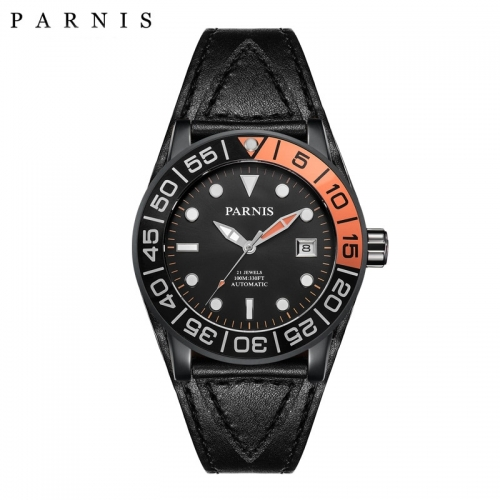 42mm Parnis Men Watch Miyota Automatic 21 Jewels Luminous Mark Sapphire Crystal PA6056