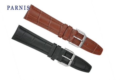 Casual Watchband Watch Part for Watch Genuine Leather 22mm Parnis Watch Strap for Men Watch Black Brown Available Hot Cheap