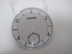 38.9mm Parnis White Watch Dial for Seagull 3620 6498 Wristwatch Movement