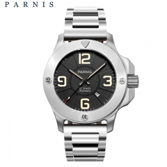 47mm Parnis Sapphire Glass Miyota Automatic Men's Military Watch Luminous Marker