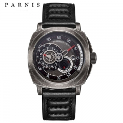 44mm Parnis Miyota Automatic Men Cool Watch Sapphire Small Second 24-Hours Date