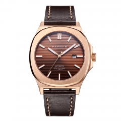 Rose Gold Case Coffee Dial