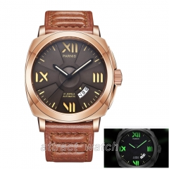 Rose Gold Case, Coffee Dial, Brown Strap
