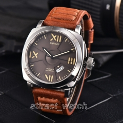 Stainless Case, Coffe Dial, Brown Strap