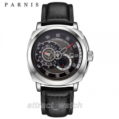 Stainless Steel Case, Black Strap