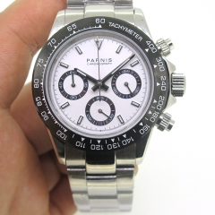 White Dial Black Bezel