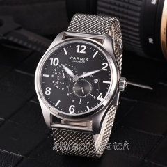 Parnis 44mm 316L Stainless Bracelet Automatic Mechnical Men Watch Date Indicator