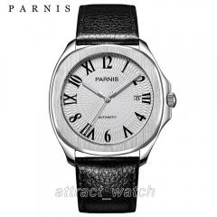 Stainless Case, Roman Number White Dial