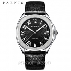 Stainless Case, Roman Number Black Dial