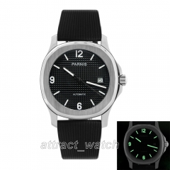 Stainless Case, Black Dial, Rubber Strap