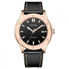 Rose Gold Case Black Dial