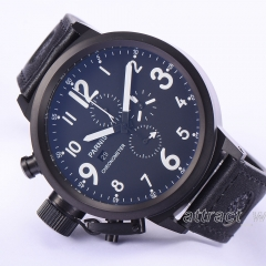 50mm Parnis Russian Military Men Chronograph Watch 0S10 Quartz Wristwatch Cool