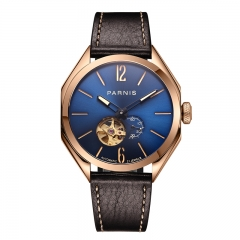 Rose Gold Case Blue Dial