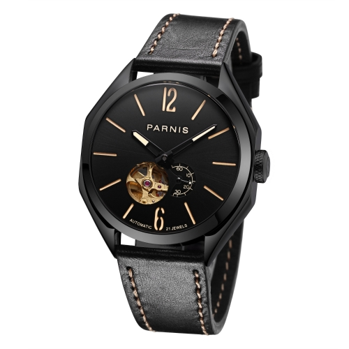 43mm Parnis Men's Miyota Automatic Mechanical Watch Best Gift Leather Watchband