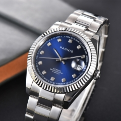 39.5mm Panirs Stereosc Bezel Elegant Diamond Dia Miyota Automatic Men Wristwatch